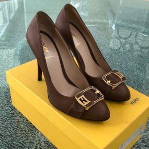 Fendi brown pumps